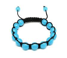 All Natural Onyx Bead Bracelet Shamballah Macrame Style MANY COLORS!