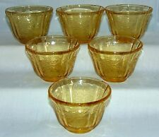 "6 Federal MADRID AMBER *2 1/8"" JELLO MOLDS*"