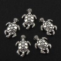 10 Metallanhänger Charm Schildkröte 14mm Schmuck Tier Metallperlen BEST M496