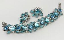 Juliana Big Beautiful Bracelet Earrings Set Blues Crystal