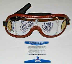 PAT DAY signed (HORSE RACING) Jockey racing goggles BECKETT BAS AA45794