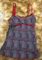 Tezenis red  black Camisole Top sleepwear nightwear size S