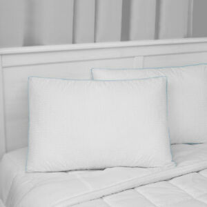 SensorPEDIC Signature Gusseted Fiberfill Jumbo Bed Pillow with Luxury Cotton