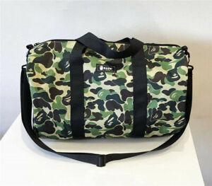 Bape A Bathing Ape Camo Gym Shoulder Bag Green Travel Sport Duffle Handbag