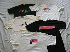 5 Enjoi Skateboard Panda Logo T-shirts Size Medium New