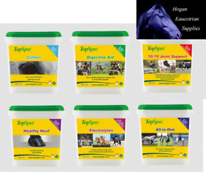 Top Spec Supplement Range Calmer Joint Digestive All In One Hoof Electrolytes