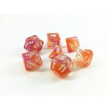 HD DICE rpg Translucent Peach Blend  7 dice set D&D new!!!
