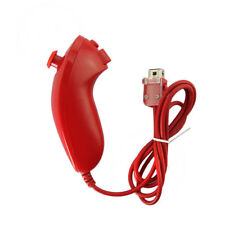 Red Nunchuck Nunchuk Controller Remote for Nintendo Wii