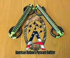 Graphite and Neon Green Pre-2003 Paracord Jeep Grab Handles TJ LJ (Made in USA)