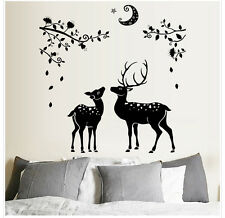 Deer Moon Wall Sticker Home Decor Decal Mural DIY Art Vinyl Removable Decoration