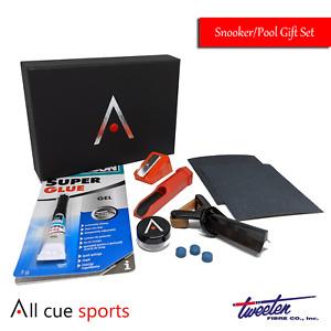 Snooker & Pool Cue Tip Repair Kit Gift Set  - Elk Master Tips 8.5mm 9mm 10mm