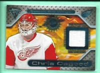 Chris Osgood 2000-01 Private Stock Titanium Game Worn Jersey Detroit Red Wings