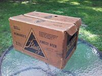Vtg Blatz Division Beer Cardboard Case Crate Box Milwaukee Wisconsin 1950s