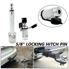 "Universal HEAVY DUTY 5/8"" HITCH PIN LOCK PLASTIC CAP WITH 2 KEYS CAR TRUNK RV"