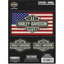 Harley-Davidson Bar and Shield American Flag Decal