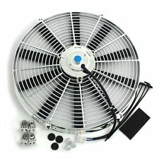 16 Inch Thermo Fan Electric Fan Chrome Straight Blade 120W 12Volt
