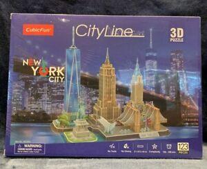 CubicFun CityLine 3D Puzzle New York City Building Models Brand NEW Sealed