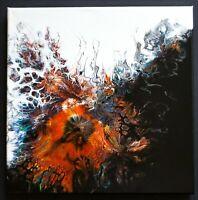 "ACRYLIC PAINTING ORIGINAL ARTWORK 14"" x 14"" CANVAS ABSTRACT ART WALL DECOR"