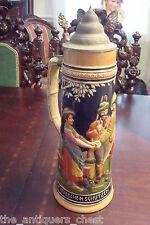 "Reinhold Merkelbach  beer large 2.5L # 3399, 15"" tall salt glazed stoneware[a*4"