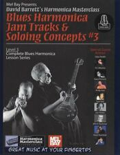 Blues Harmonica Jam Tracks Soloing Concepts Level 3 Sheet Music Book/Audio
