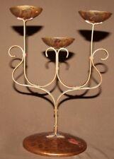 Vintage hand made wrought copper candelabra candlestick