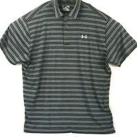 Under Armour Golf Polo Shirt UA Heatgear Performance Short Sleeve Mens Size XL