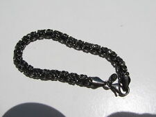 MARKED HANG TAG BRONZE MILOR ITALY BYZANTINE CHAIN LINK BRACELET 11.1 GRAMS
