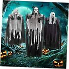 """3 Pack Halloween Hanging Skeleton Ghost Decorations, One 53"""" and Two 31.5"""""""