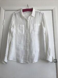 white linen shirt size 18
