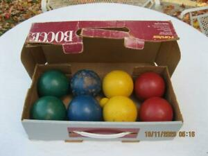 Vintage Forster Bocce Ball Lawn Bowling Game Competitors Set Item 6200 USA
