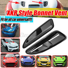 XKR Style Front Hood Scoop Vents Gloss Black For BMW Benz Subaru Toyota Audi !!