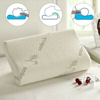 Bamboo Memory Foam Pillow Orthopedic Comfortable Twin Queen/King Sleep Pillow