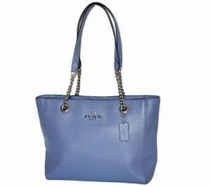 New Coach Marlie Periwinkle Leather Tote Bag C1566