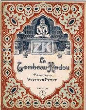LE TOMBEAU HINDOU Conrad VEIDT Von HARBOU Fritz LANG Fakir Rajah Inde MAY 1921