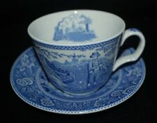 Spode Woodman Blue Room Cup & Saucer NEW Made in England