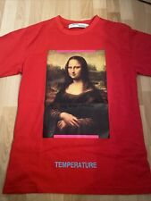 Off White Temperature Mona Lisa Tshirt Red Size S Oversized