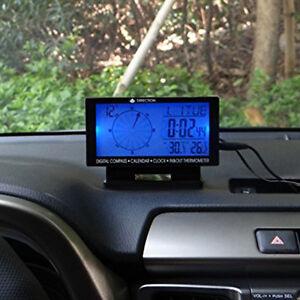 Latest Car Electronic Compass Guiding Clock Thermometer Calendar Gauge Efficient