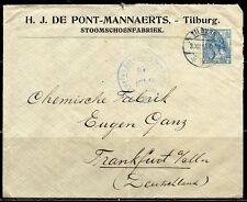 NETHERLANDS COVER TILBURG  3.XII.15  TO FRANKFURT AS SHOWN