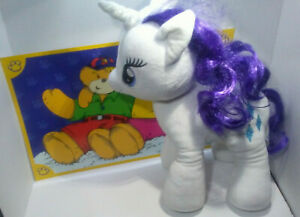 My Little Pony, Rarity, Build-a-Bear 18in Plush with Build-a-Bear place mat