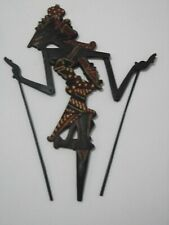 Traditional hand painted carved wooden Indonesian rod/shadow puppet