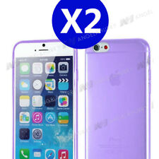 2X Purple iPhone 6 / 6s TPU Gel Soft Jelly Case Phone Cover for Apple