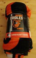 "MLB Baltimore Orioles The Northwest Company 46"" x 60"" Super Plush Throw Blanket"