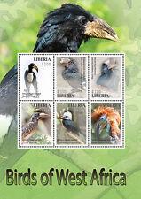 Liberia-2016 West Africa Birds On Stamps Green Sheetlet Postal Stamps MNH