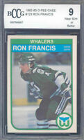 1982-83 o-pee-chee #123 RON FRANCIS hartford whalers rookie card BGS BCCG 9