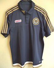 MLS Adidas Philadelphia Union Soccer Coaches Polo Shirt S NWT 1858A
