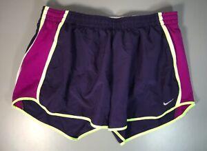 Womens Vintage Retro Dri Fit NIKE Purple Running Gym Shorts Size L 12-14