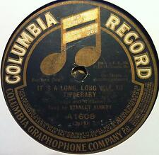 "Rare 1913 Columbia 78 STANLEY KIRKBY it's a long way to tipperary 10"" VG- A-1608"