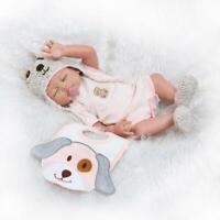 """20"""" 50cm Full Body Silicone Vinyl Reborn Baby Dolls Bath Toy Cute Girl Bebe Gift"""