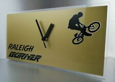 Lightweight Raleigh team aero pro burner BMX stunt bike wall clock 300x150x2mm..