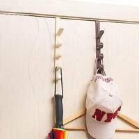 Hanger Hook Clothes Storage Holder Over The Door Multipurpose Towel Hanging Rack